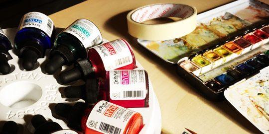 Materiales para pintar con acuarelas