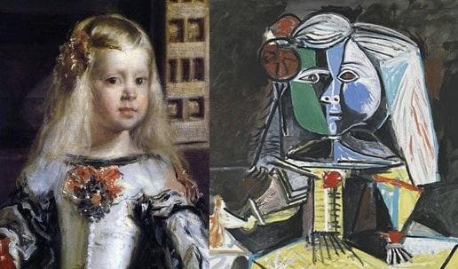 Diferentes estilos para la Infanta Margarita: Velazquez y Picasso