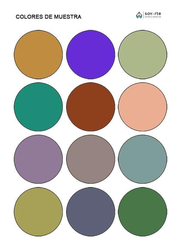 Colores de Muestra