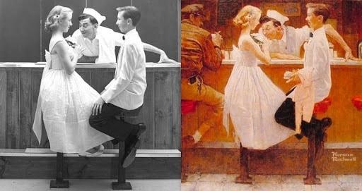 N. Rockwell: modelo vs. ilustración