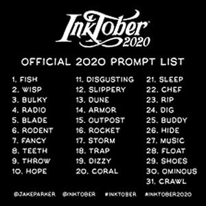 Palabras Inktober 2020